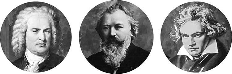 Resultado de imagem para Bach, Beethoven e Brahms